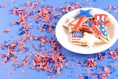 Biscuits patriotiques pour le 4ème juillet Photos libres de droits