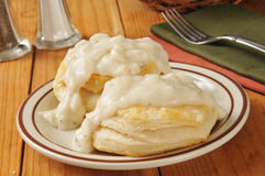 Biscuits with pepper gravy Royalty Free Stock Image
