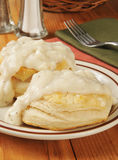 Biscuits with pepper gravy Royalty Free Stock Photo