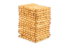 Biscuits piled in stack Royalty Free Stock Photos