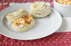 Biscuits with pimento cheese Stock Images