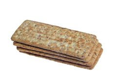 Biscuits Plain. Plain biscuits isolated on white background royalty free stock photos