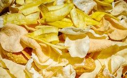 Biscuits, plantain et popadoms Photographie stock libre de droits
