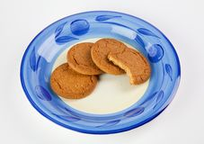 Biscuits on plate Stock Image