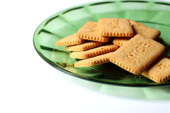 Biscuits on a plate Stock Image