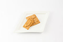 Biscuits on plate stock photo