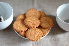 Biscuits on a plate. Biscuits for coffee on a plate Royalty Free Stock Image