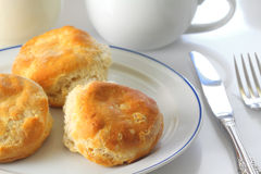 Biscuits on Plate Stock Photography
