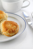 Biscuits on Plate Royalty Free Stock Photos