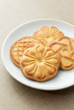 Biscuits on a plate Royalty Free Stock Photos