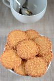Biscuits on a plate Royalty Free Stock Images