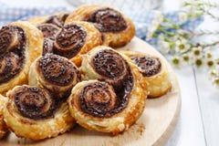 Biscuits plus palmier - dessert français Photographie stock libre de droits