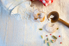 Biscuits pour Christmastime Photo stock