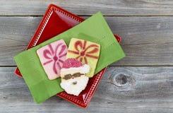 Biscuits pour la saison des vacances du plat Images stock