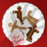 Biscuits pour Santa illustration de vecteur