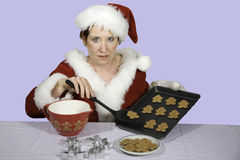 Biscuits pour Santa Photographie stock