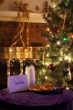 Biscuits pour Santa Photo libre de droits