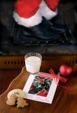 Biscuits pour Santa Image libre de droits