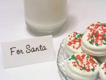 Biscuits pour Santa Photos stock