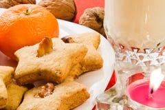 Biscuits pour Santa Images libres de droits