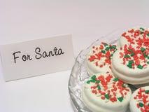 Biscuits pour Santa aussi image libre de droits