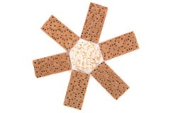 Biscuits and puffed round bread. Stock Images