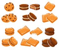 Biscuits réglés Vecteur Images stock