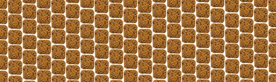 Biscuits rayés sur un fond blanc Image stock
