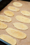 Biscuits ready for baking Stock Image