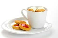 Biscuits remplis par bourrage Photo libre de droits
