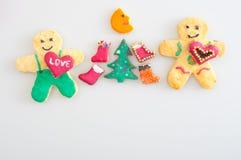 Biscuits représentant la célébration de Noël Photographie stock libre de droits
