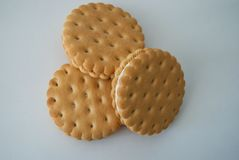 Biscuits ronds photographie stock