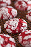 Biscuits rouges de pli de velours Images libres de droits