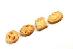Biscuits in row Royalty Free Stock Photo