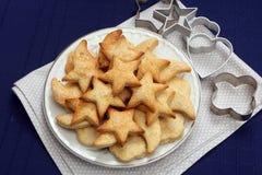 Biscuits sablés avec du sucre Photographie stock libre de droits