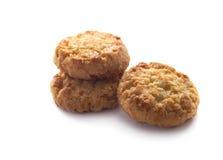 Biscuits sablés d'isolement sur le blanc photos stock