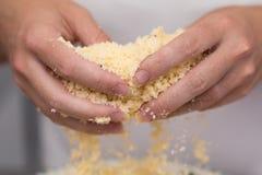 Biscuits sablés de mélange de vanille image stock