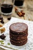 Biscuits sablés de Pepita de chocolat mexicain photo libre de droits