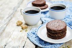 Biscuits sablés de Pepita de chocolat mexicain Image stock