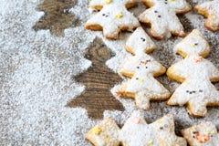 Biscuits sablés pour Noël photo libre de droits