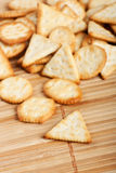 Biscuits salés Photos libres de droits