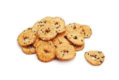 Biscuits salés de graines Image stock