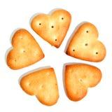 Biscuits salés sous forme de fleur 2 Image stock