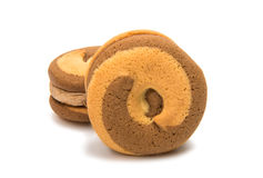 Biscuits sandwich Royalty Free Stock Photo