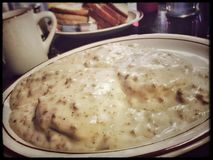Biscuits in Sausage Gravy Royalty Free Stock Images