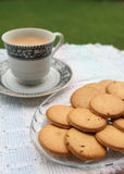 Biscuits served with tea Stock Images