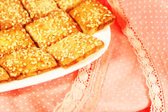 Biscuits with sesame Stock Photography