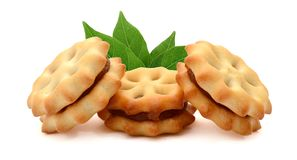 Biscuits. Several butter biscuits. Cookie, biscuit royalty free stock photo