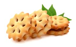 Biscuits. Several butter biscuits. Cookie, biscuit stock photography