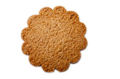 Biscuits in the shape of a flower on the white background Stock Image
